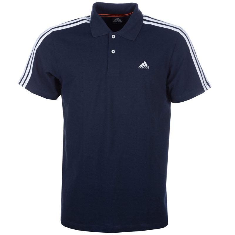 Adidas Mens Essentials 3S Polo Shirt Navy, Velikost: S