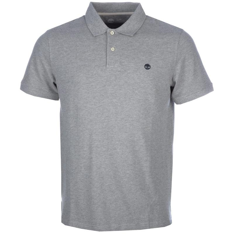 Timberland Mens Millers River Polo Shirt Grey