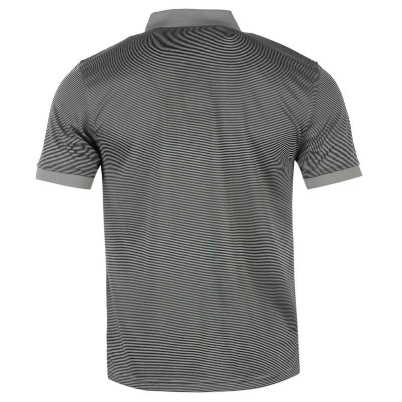 Dunlop fine stripe polo shirt mens dark green for Dark green mens polo shirt