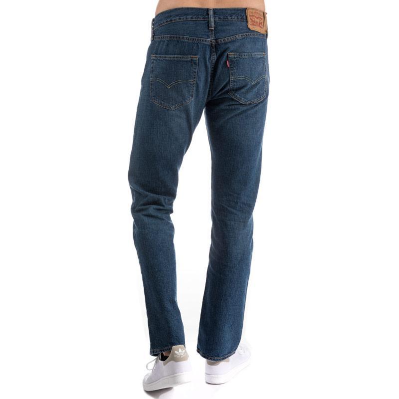 Levis Mens 501 Original Fit Jeans Black, Velikost: W36 R