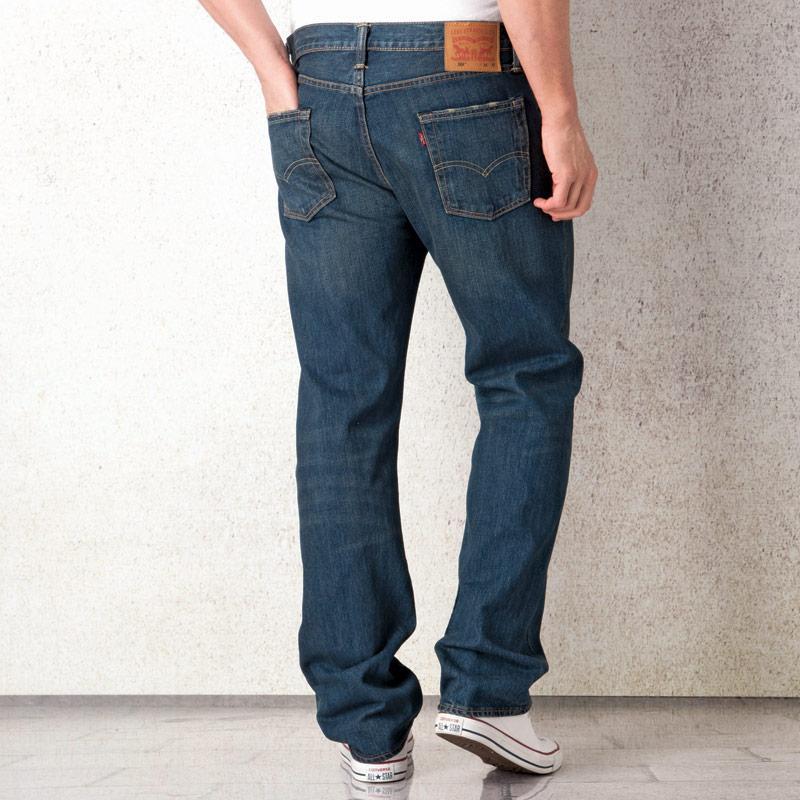 Levis Mens 504 Straight Fit Jeans Denim, Velikost: W34 L