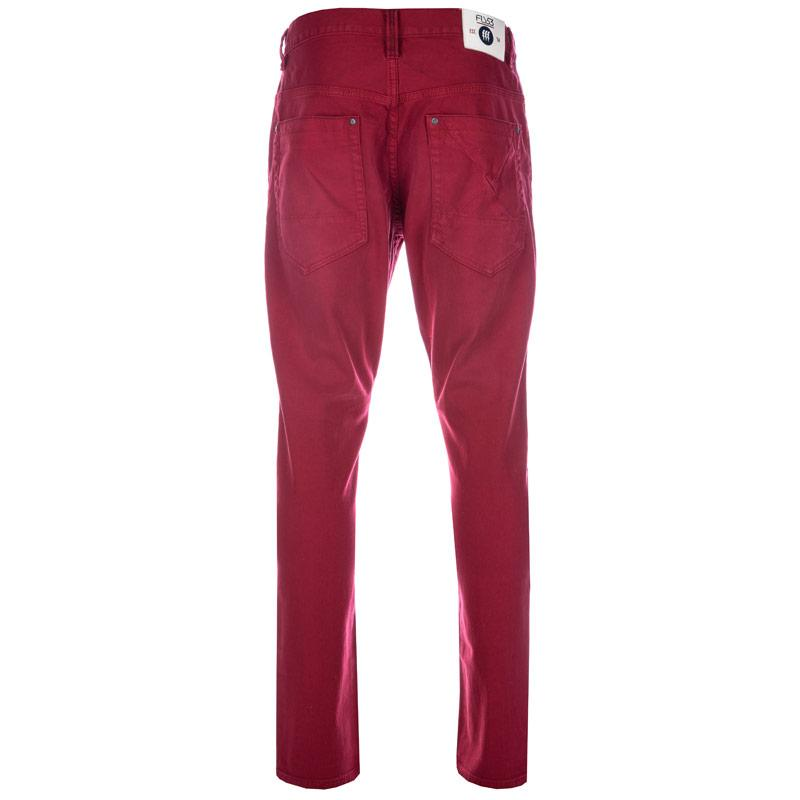 Fly53 Mens Button Chinos Red