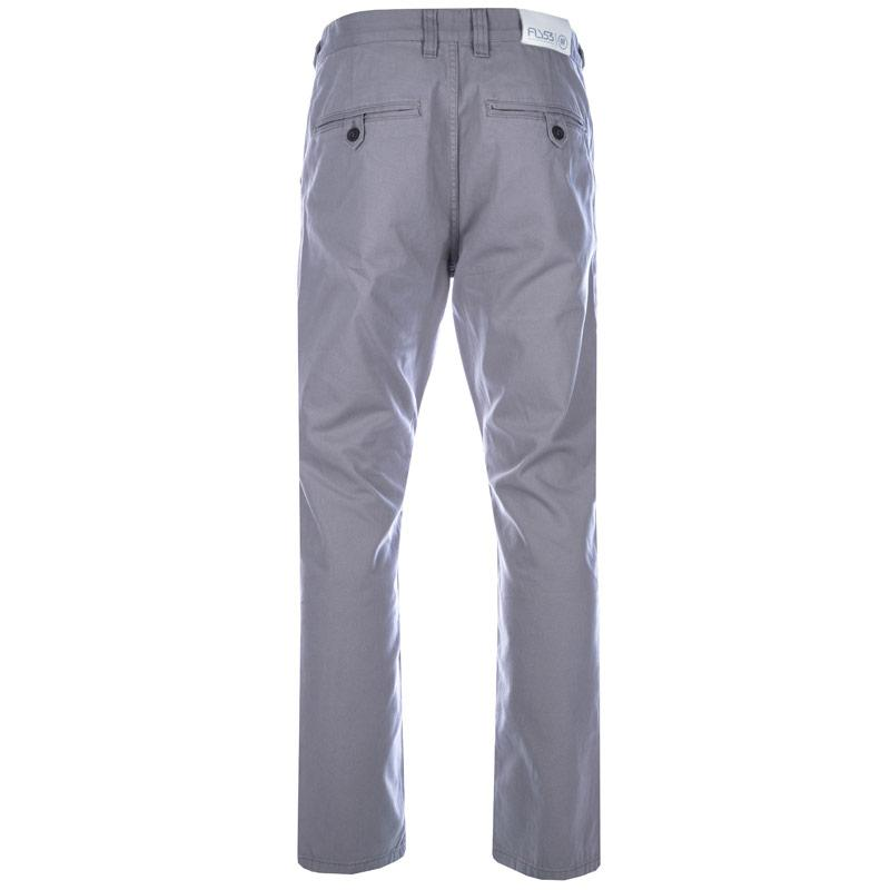 Fly53 Mens Button Chinos Grey