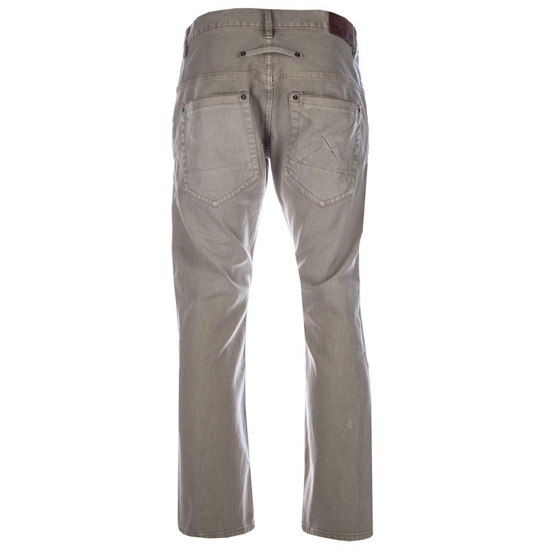 Fly53 Mens Button Jeans Sand