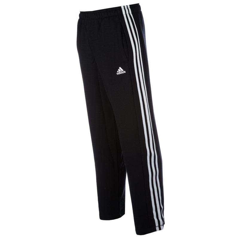 Tepláky Adidas Mens Sport Essentials 3S French Terry Pants Black-White, Velikost: S