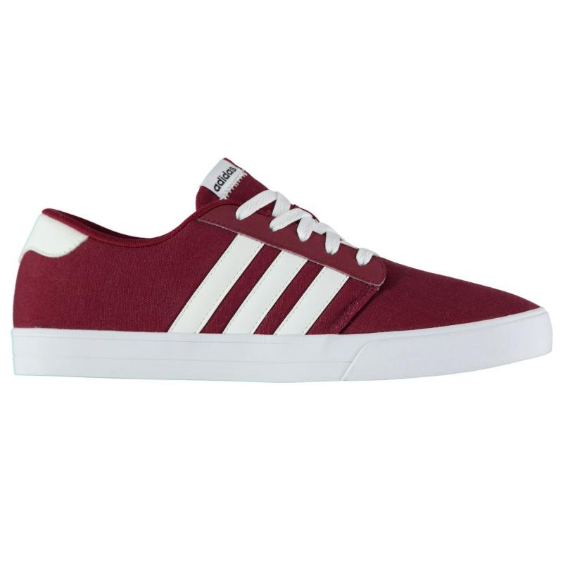 Boty adidas VS Skate Mens Canvas Shoes Burgundy/Wht