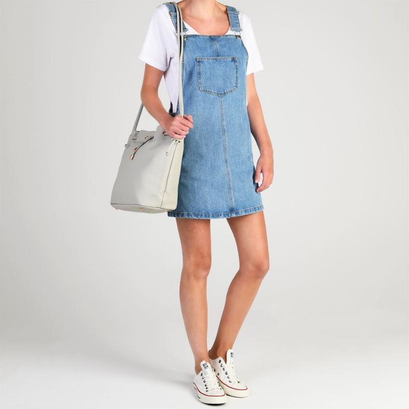 Šaty Only France Denim Dress Blue