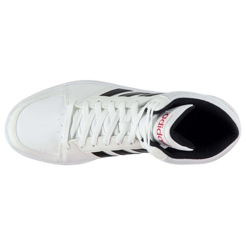 Boty adidas Hoops Mid Mens Leather Hi Tops Black/Wht/Blue, Velikost: UK6 (euro 39)