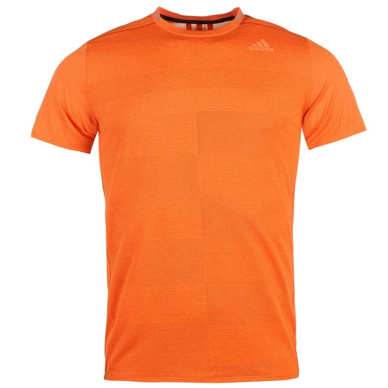 adidas Supernova Short Sleeve T Shirt Mens Energy Orange