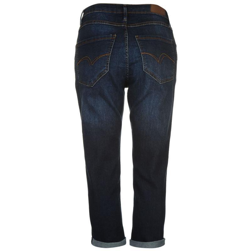 Lee Cooper Cropped Jeans Ladies Mid Wash, Velikost: 12 (M)