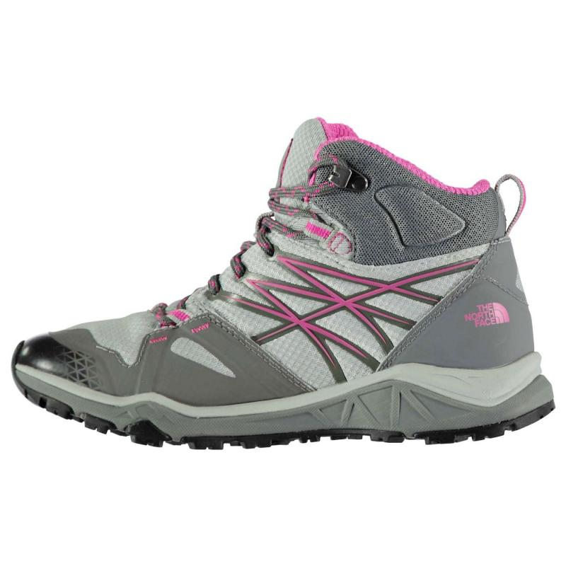 Boty The North Face Hedgehog GTX Mid Ladies Walking Shoes Grey/Purple, Velikost: UK4 (euro 37)