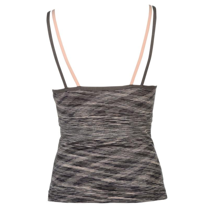 USA Pro Seamless Tank Top Ladies Charcoal Space, Velikost: 8 (XS)