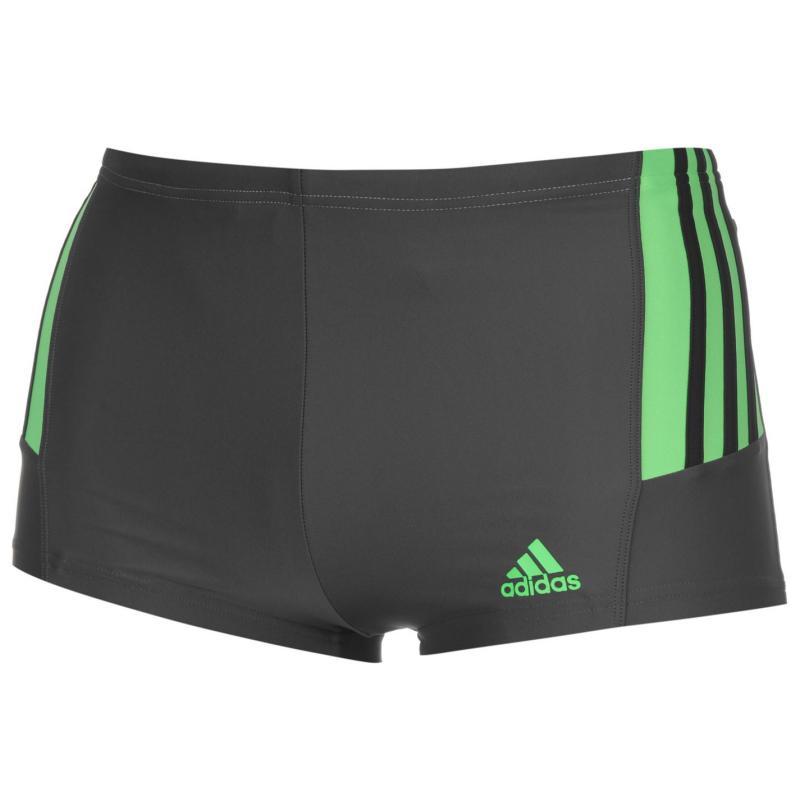 adidas Infinitex Swimming Boxers Mens Grey/Blk/Grn