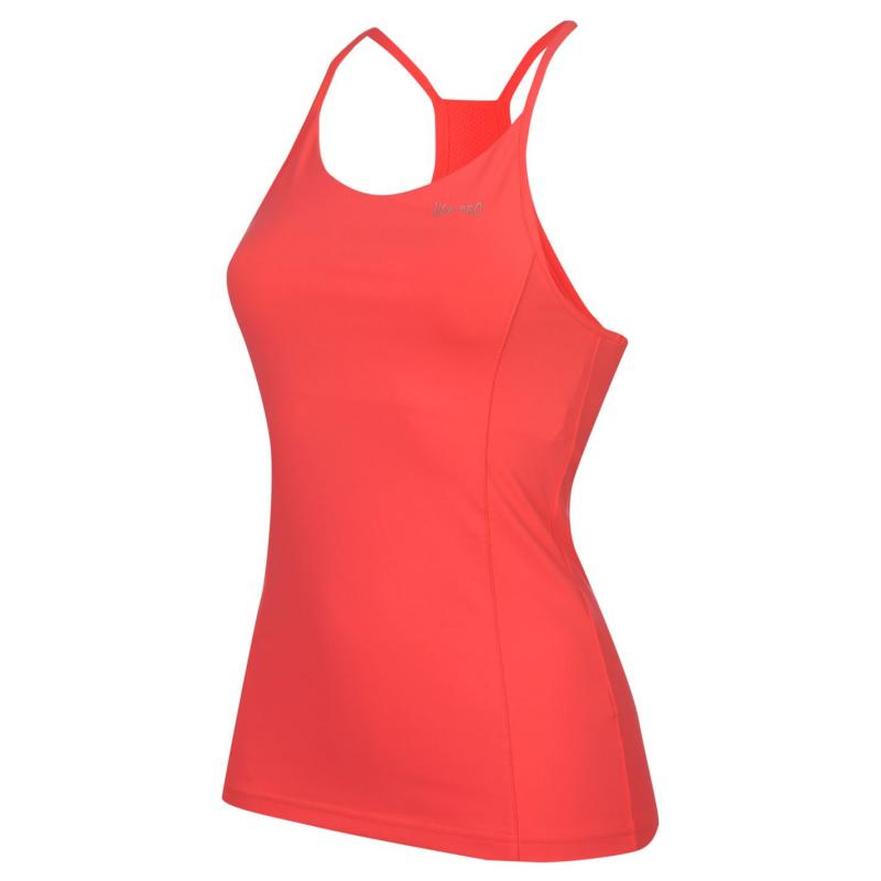 USA Pro Polyester Ladies Tank Top Coral Pink, Velikost: 8 (XS)
