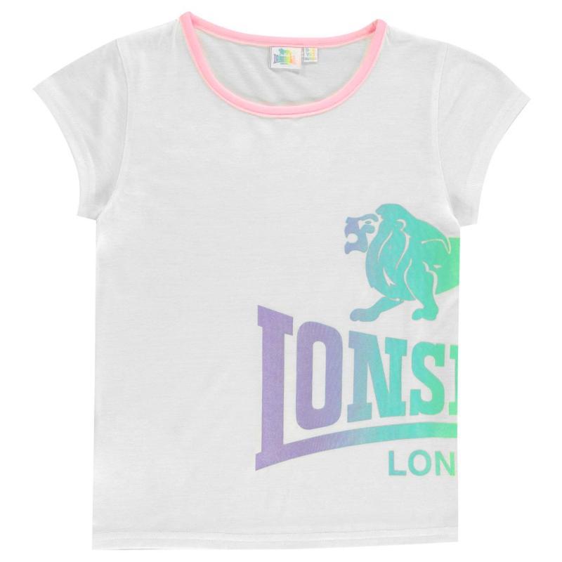 Lonsdale LL Crew Tee Junior Girls Purple