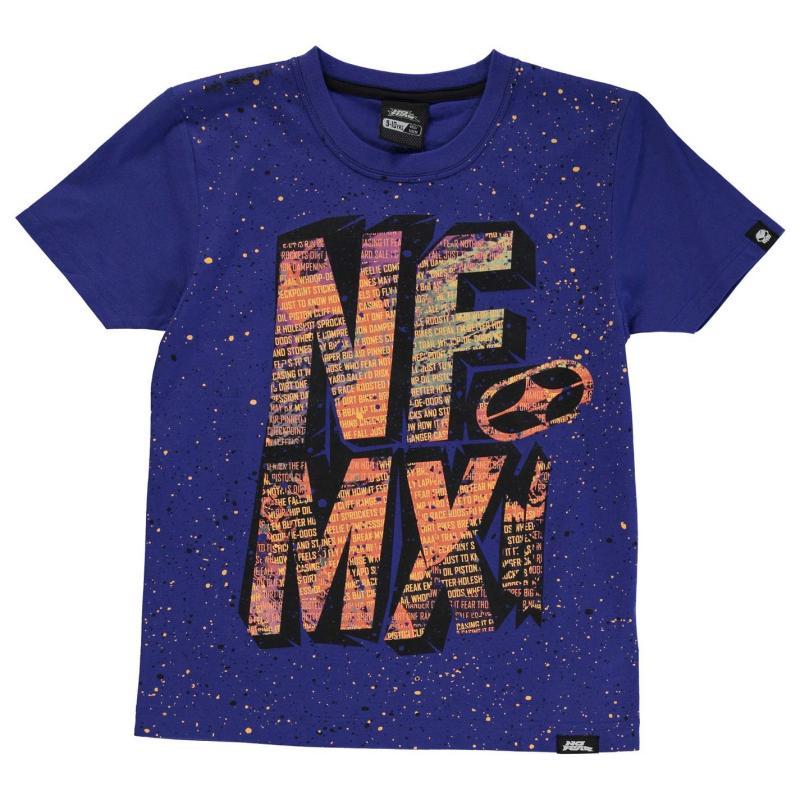 Tričko No Fear Moto Graphic T Shirt Junior Boys Orange Tyres