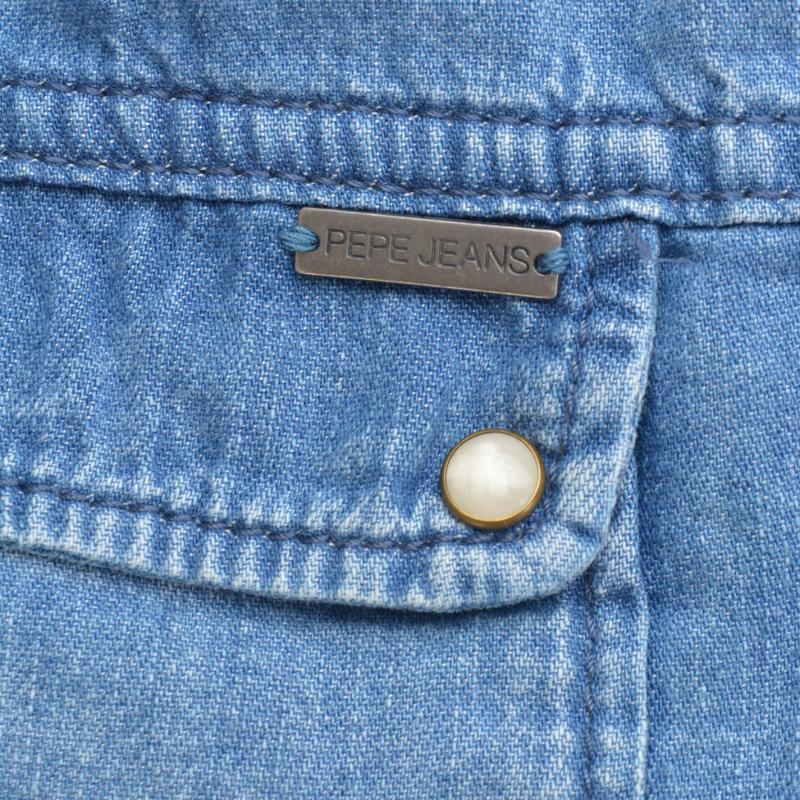 Košile Pepe Jeans Denim Shirt Indigo