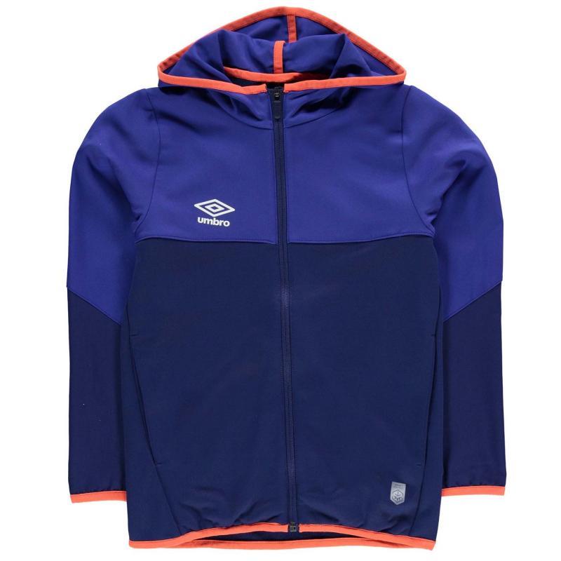 Mikina Umbro Pro Training Hooded Jacket Junior Boys Royal/N/Orange