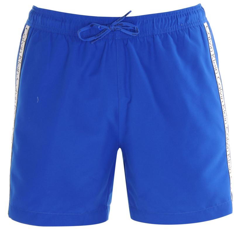 Calvin Klein Taped Drawstring Swim Shorts Royal