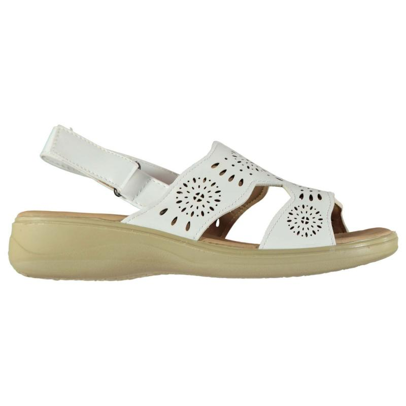Ultimate Comfort Cut Out Ladies Sandals White, Velikost: UK6 (euro 39)