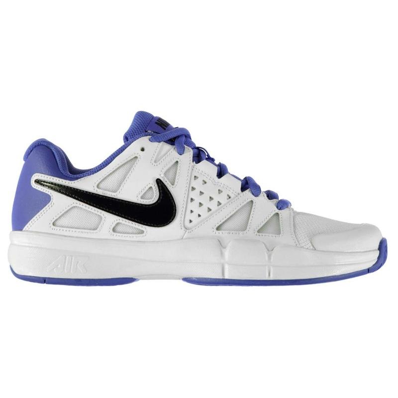 Boty Nike Air Vapor Advantage Mens Tennis Shoes White/Blk/Volt, Velikost: UK9 (euro 43)