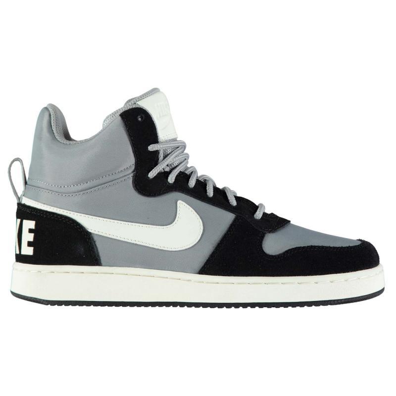 Boty Nike Court Borough Premium Mid Mens Trainers Grey/Sail/Black, Velikost: UK6 (euro 39)