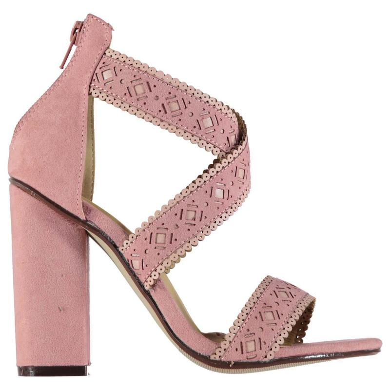 Rock and Rags Lazer Cut Out Sandals Pink, Velikost: UK6 (euro 39)