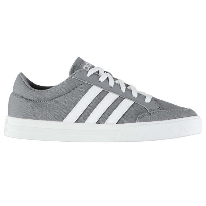 Boty adidas VS Set Mens Canvas Trainers Grey/White, Velikost: UK9 (euro 43)