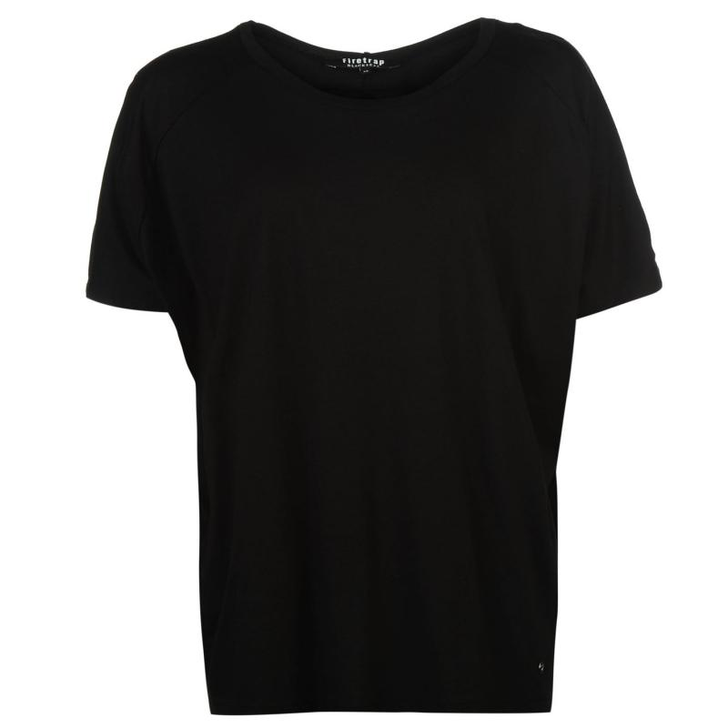 Firetrap Blackseal Plain Lucy T Shirt White Slub, Velikost: 10 (S)