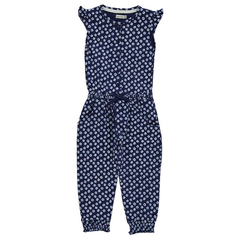 Šaty Crafted AOP Jumpsuit Child Girls Navy Floral Aop
