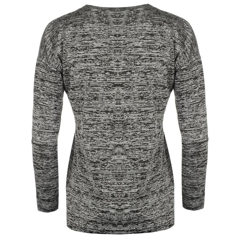 Svetr Golddigga Cross Over Sweater Ladies Charcoal M