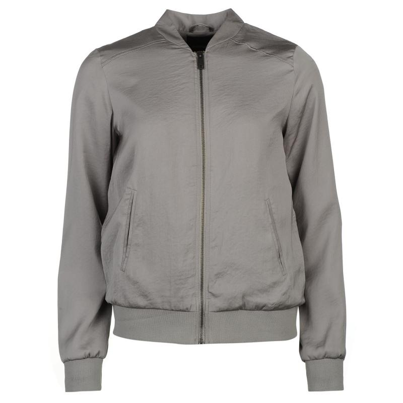 Bunda Golddigga Lightweight Bomber Jacket Ladies Grey, Velikost: 12 (M)