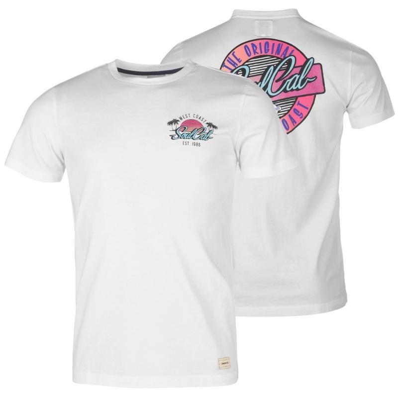 Tričko SoulCal Deluxe Retro T Shirt White