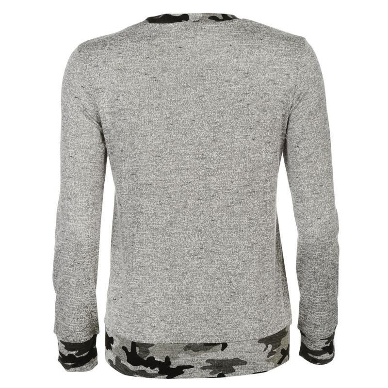 Svetr Golddigga Pocket Crew Neck Sweater Ladies Grey Marl