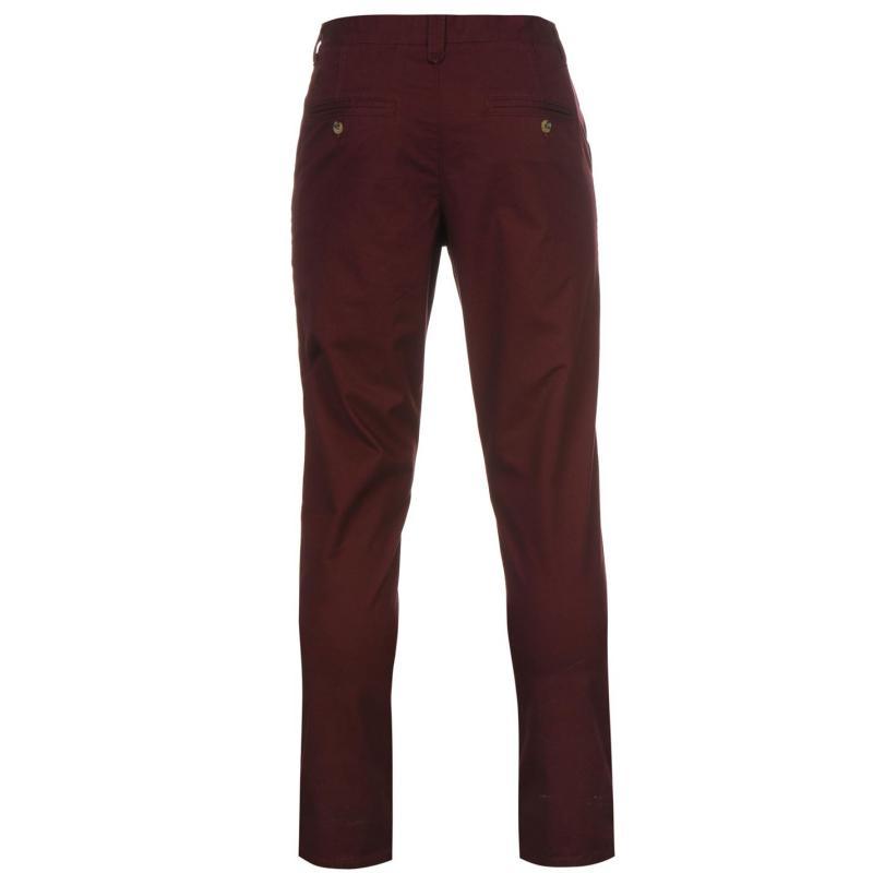 Kalhoty Kangol Chino Trousers Windsor Wine