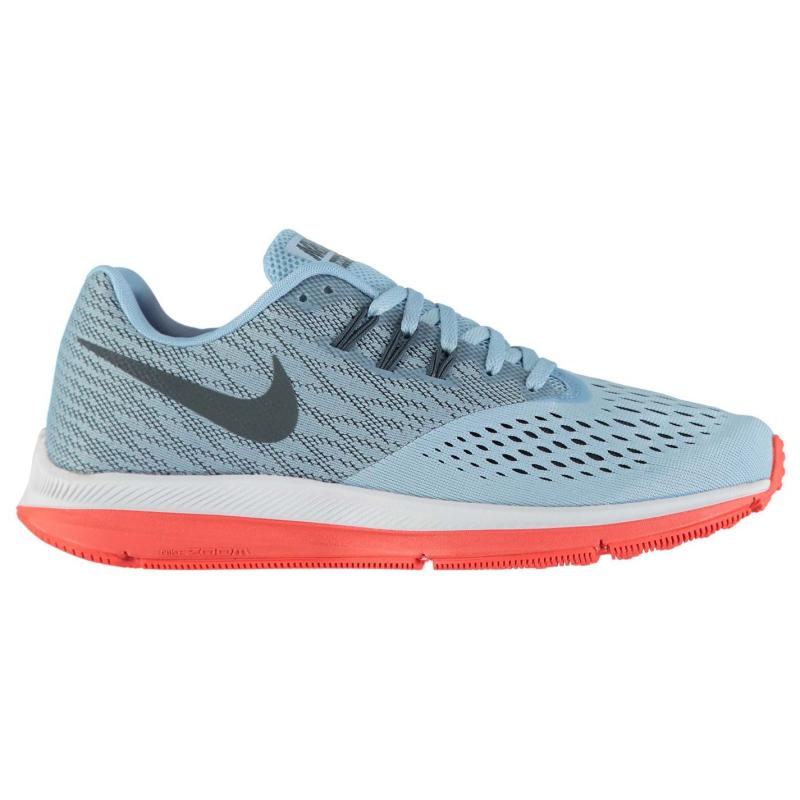 Nike Zoom Winflo 4 Mens Running Shoes Black/Wht/Blue