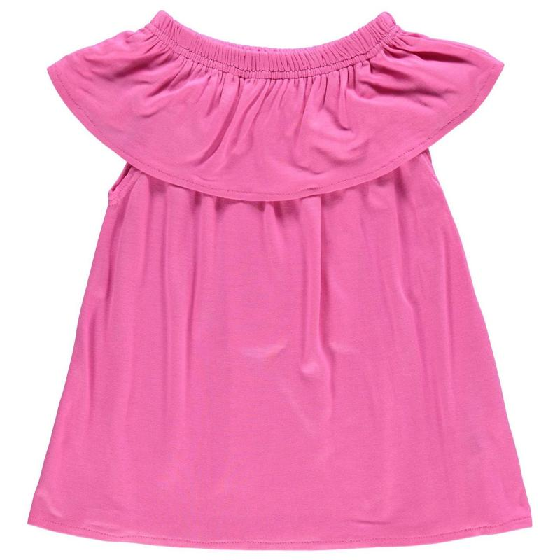 Crafted Bardot Jersey Top Child Girls Pink