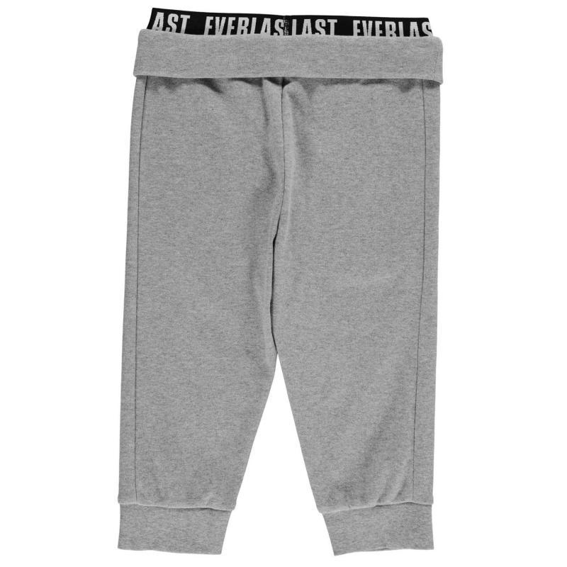 Everlast Three Quarter Interlock Pants Junior Girls Grey Marl
