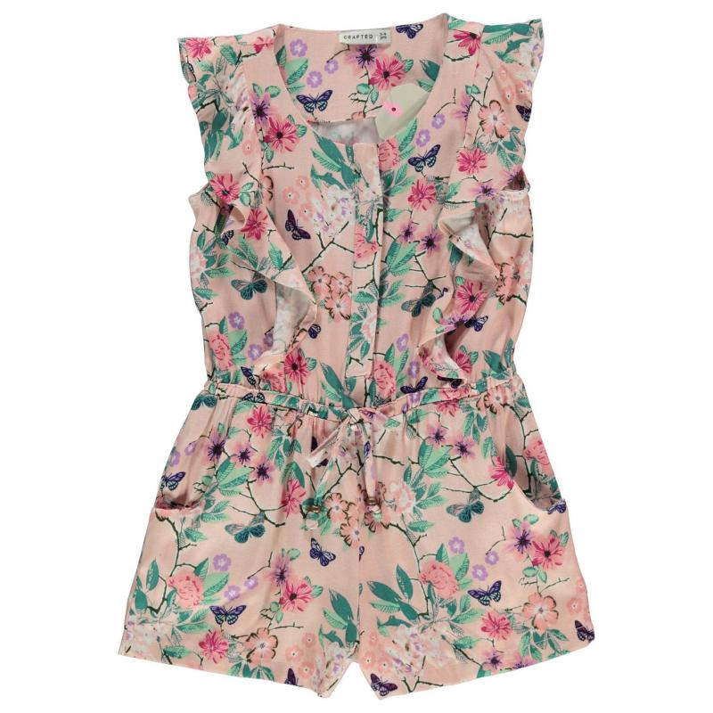 Šaty Crafted AOP Playsuit Child Girls Pink Aop Floral