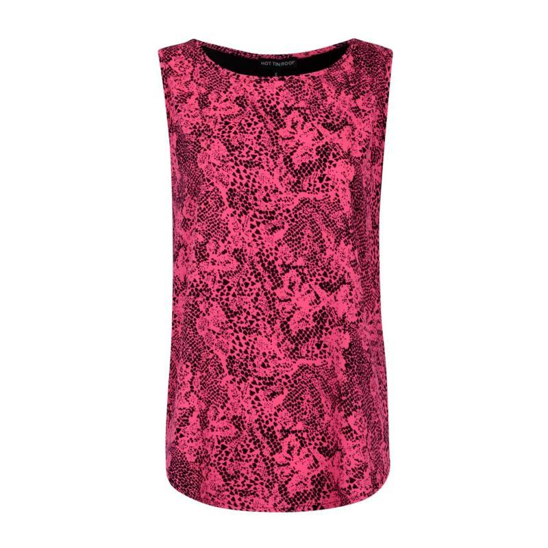Full Circle Print Front Vest Ladies Pink