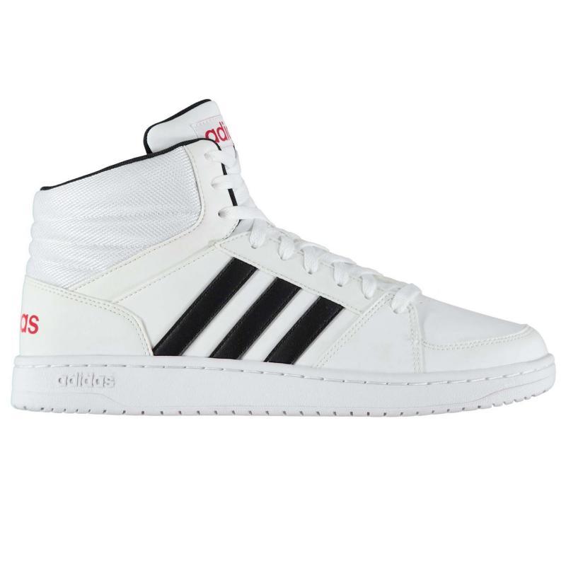 Boty adidas Hoops Mid Mens Leather Hi Tops White/Black, Velikost: UK11 (euro 46)