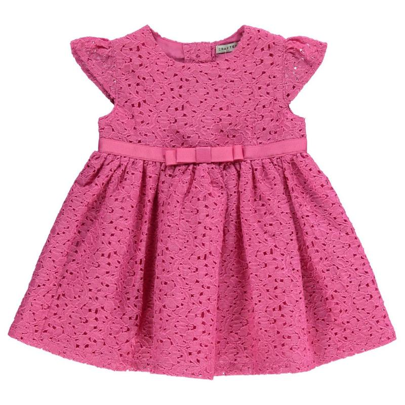 Šaty Crafted Lace Dress Baby Girls Azalia Pink