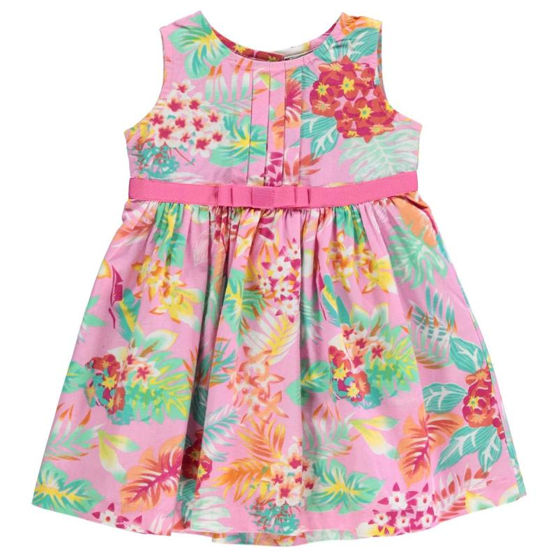 Šaty Crafted Floral Dress Baby Girls Aop Pink Floral