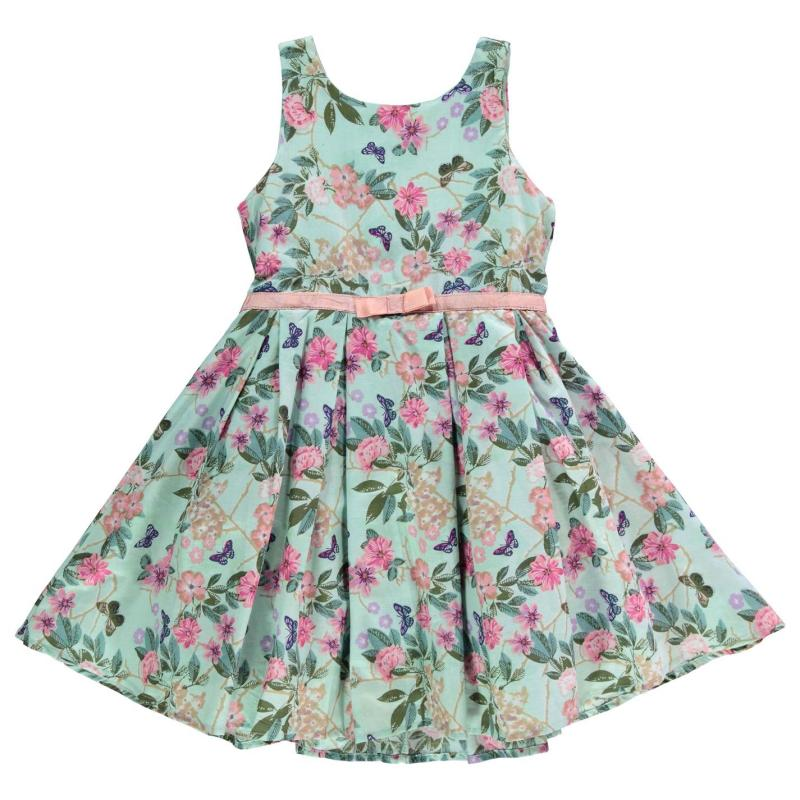 Šaty Crafted Floral Dress Child Girls Green AOP Flora