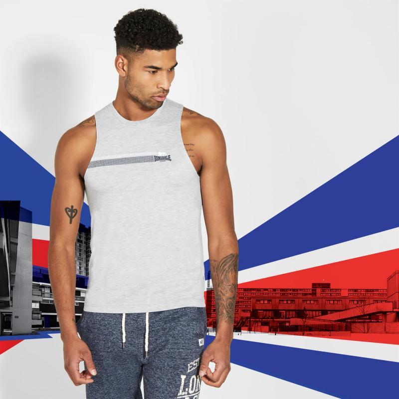 Tílko Lonsdale Muscle Vest Mens Blue