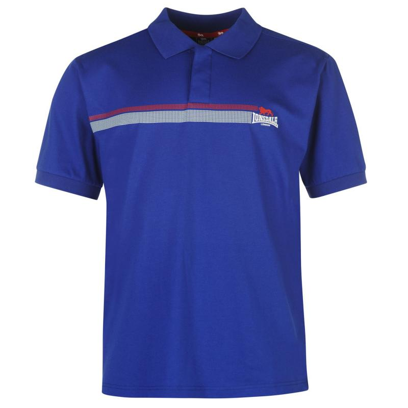Lonsdale 2 Stripe Polo Shirt Mens Blue