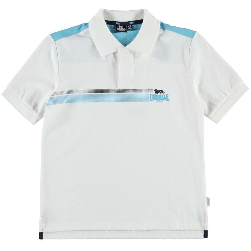 Lonsdale Two Stripe Polo Shirt Junior Boys Navy/Green