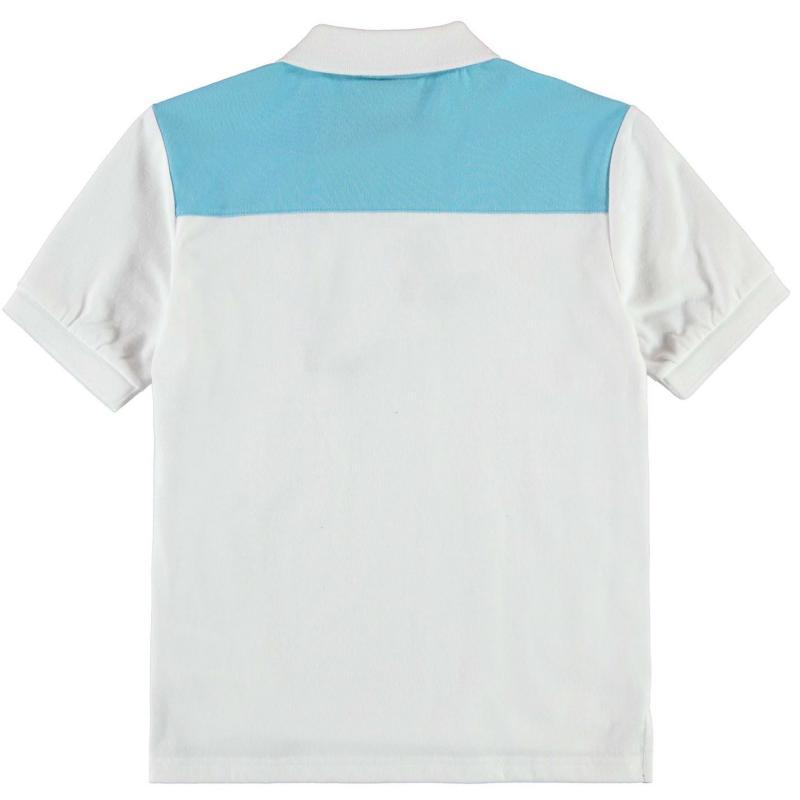 Lonsdale Two Stripe Polo Shirt Junior Boys White/Blue