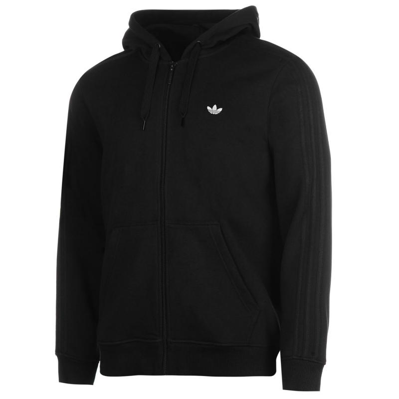 Mikina adidas Originals Trefoil Full Zip Hoodie Black