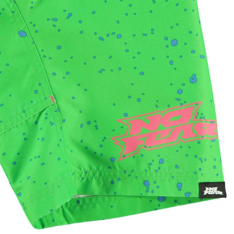 Kraťasy No Fear Board Shorts Junior Boys Green/PinkSkull